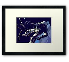 Space Series : Gemini EVA 1 Abstract Blue [#2] Framed Print
