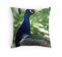 imPosing Peacock Throw Pillow