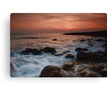 evening mood at the atlantic ocean Canvas Print