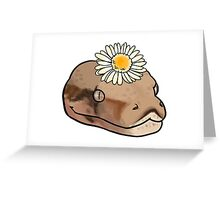 Animal - Snake With Flower Greeting Card