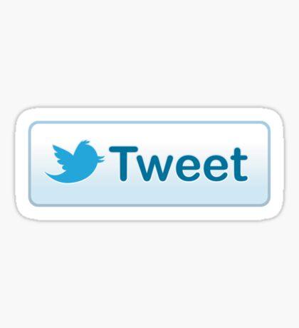Twitter Tweet Button Shirt Sticker