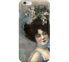 Vintage Photograph - Woman with Hat iPhone Case/Skin