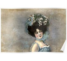 Vintage Photograph - Woman with Hat Poster