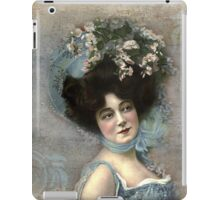 Vintage Photograph - Woman with Hat iPad Case/Skin