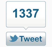 Twitter Tweet Button Shirt - Vertical Count Baby Tee