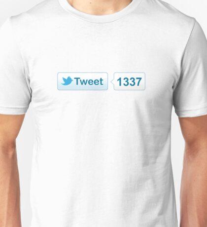 Twitter Tweet Button Shirt - Horizontal Count Unisex T-Shirt