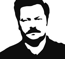 Ron Swanson - Parks and Recreation by bjarnibragason