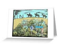 Headin to Canada, Northside Greeting Card