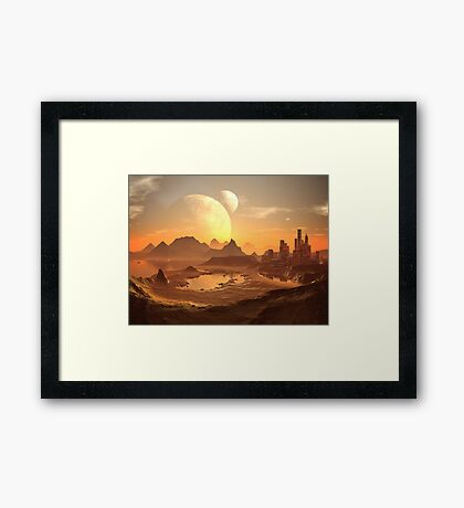 Two Moons over New Cairo Framed Print