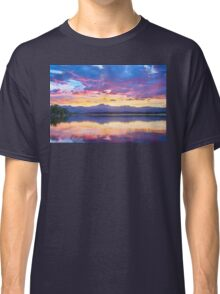 Colorful Sky Into The Rocky Mountain Night Classic T-Shirt