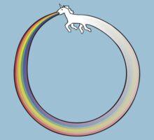 Ouroboros Unicorn Rainbow Vomit by jezkemp