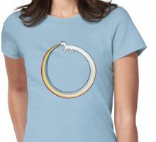 Ouroboros Unicorn Rainbow Vomit Womens Fitted T-Shirt
