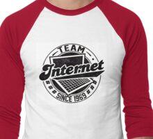 Team Internet Men's Baseball ¾ T-Shirt