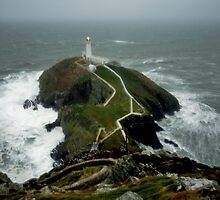 Angry Salt water at south Stack by Murray Breingan