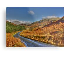 Duddon Valley Road  - Lake District Metal Print