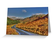 Duddon Valley Road  - Lake District Greeting Card