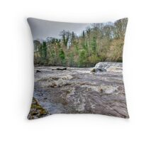 River Ure - Aysgarth-Yorks Dales Throw Pillow