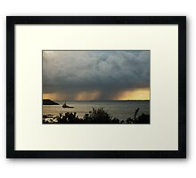 Approaching  Framed Print