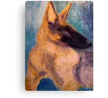 Sirius Portrait Painting Canvas Print