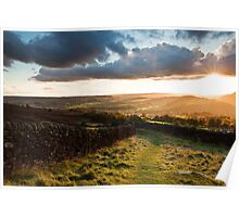 Curbar Gap Sunset Poster