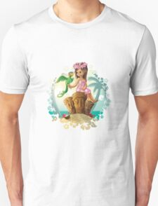Hawaiian Friends Tiki Illustration Unisex T-Shirt