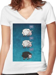 Bored Sheep Women's Fitted V-Neck T-Shirt