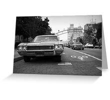 Buick City Greeting Card