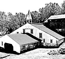 Hopewell Village Woodcut by RobertSander
