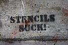 stencils suck grafitto by dedmanshootn