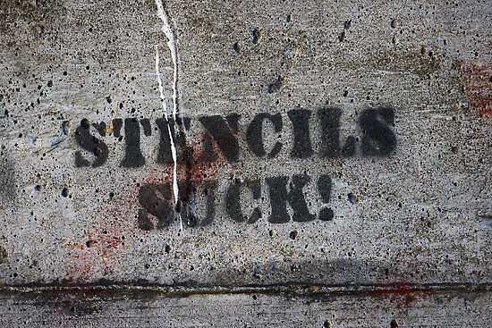 stencils suck grafitto by dedmanshootn