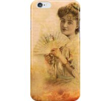 Vintage Photograph - Woman with Fan  iPhone Case/Skin