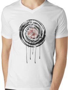 Vinyl Records Retro Urban Grunge Design Mens V-Neck T-Shirt