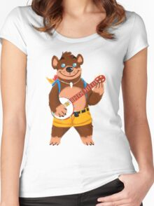 Septembear: Banjo  Women's Fitted Scoop T-Shirt