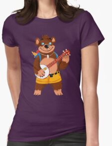Septembear: Banjo  Womens Fitted T-Shirt