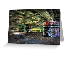 Under The Track Greeting Card