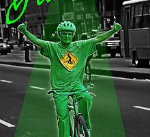 Green man on a Bike  by jhongne