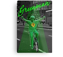 Green man on a Bike  Metal Print