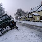Landy in the ditch at Sandyway, Exmoor by Rob Hawkins