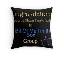A Bit Of Mail in the Box Feature Banner Throw Pillow