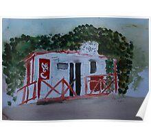 Emiles Road side Grocer, Isla de Roatan Poster