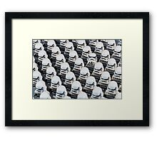Stormtrooper army Framed Print