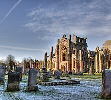 Melrose Abbey by Lynne Morris