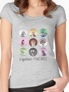 Captain Pancakes at his finest. Women's Fitted Scoop T-Shirt