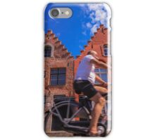 Cyclist in Bruges iPhone Case/Skin