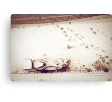 Urban snow Canvas Print