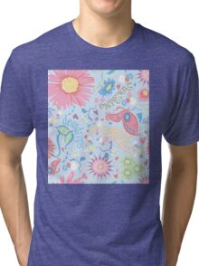 dewdrops in the garden Tri-blend T-Shirt