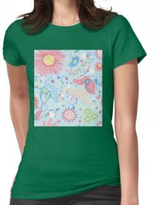 dewdrops in the garden Womens Fitted T-Shirt
