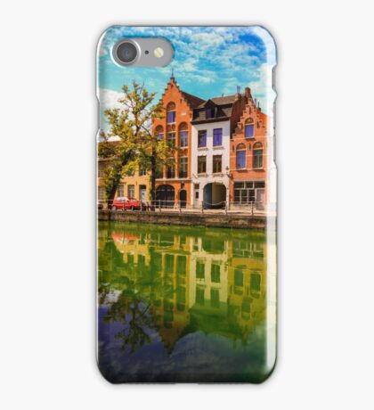 Bruges in reflection iPhone Case/Skin