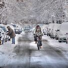 biker snow by andytechie