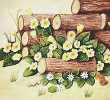 Spring Amongst the Woodpile by Jorja